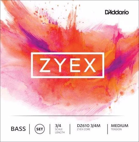 DADDARIO ZYEX SET ZA KONTRABAS DZ610 3/4 MED
