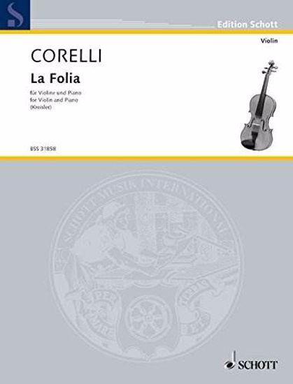 CORELLI:LA FOLIA FOR VIOLIN AND PIANO