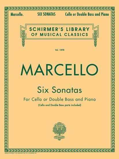 MARCELLO:SIX SONATAS FOR CELLO OR DOUBLE BASS AND PIANO