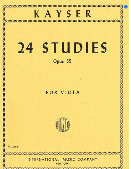 KAYSER;24 STUDIES OP.55 VIOLA