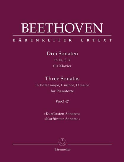BEETHOVEN:THREE SONATAS WoO 47 IN ES,f,D FOR PIANO